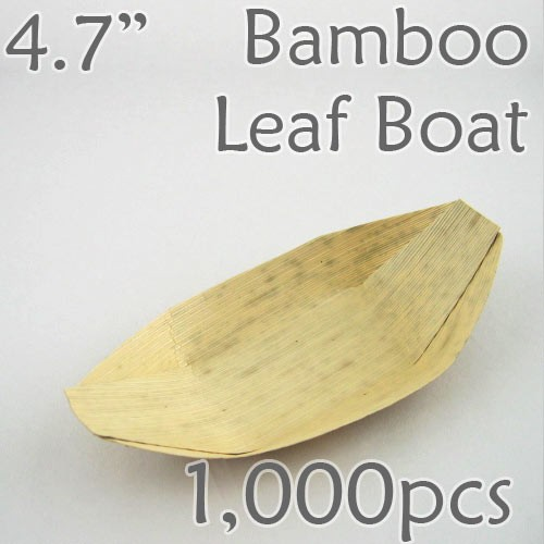 "Bamboo Leaf Boat 4.7"" -1000 pc."
