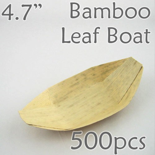 "Bamboo Leaf Boat 4.7"" -500 pc."