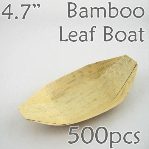 "Bamboo Leaf Boat 4.7"" -500 pc."