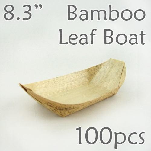 "Bamboo Leaf Boat 8.3"" -100 pc."