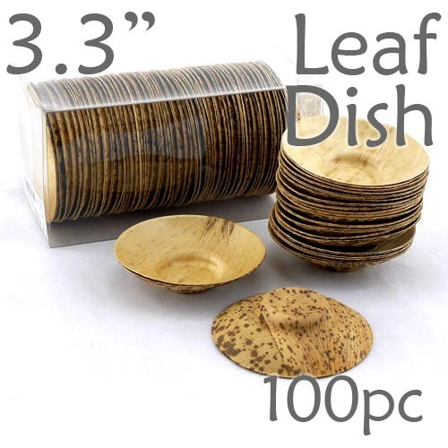Thermo-Pressed Leaf Dish - Shallow -100 pc.