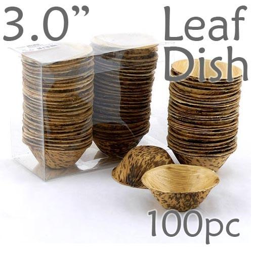 Thermo-Pressed Leaf Dish - Deep -100 pc.