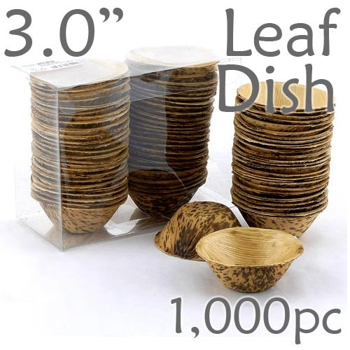 Thermo-Pressed Leaf Dish - Deep -1000 pc.