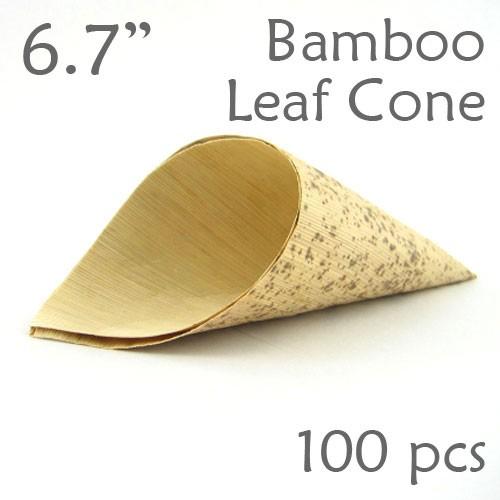"Bamboo Leaf Cone 6.7"" -100 pc."
