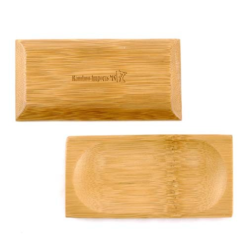 "Small Solid Bamboo Dishes 2.4"" X 4.7"" (6cm X 12cm) Oval Indent rectangle 20pc"