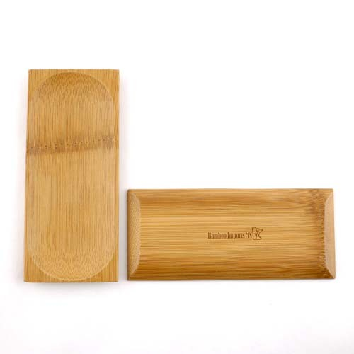 """Small Solid Bamboo Dishes 2.5"""" X 5 7/8"""" (6.5cm X 15cm) Oval Indent rectangle 100pc"""