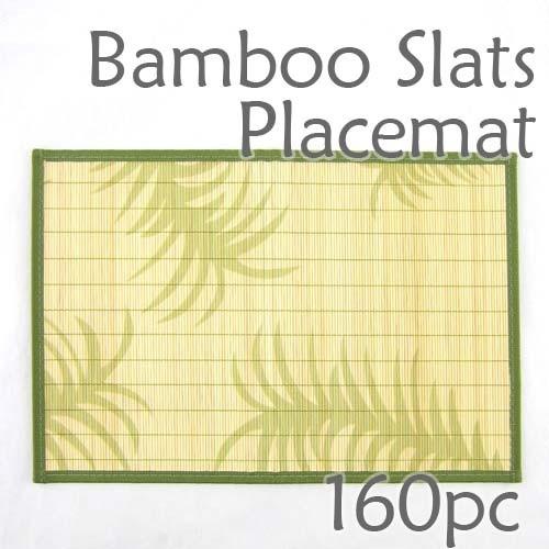 Bamboo Placemat - Fern Imprint - 160pc