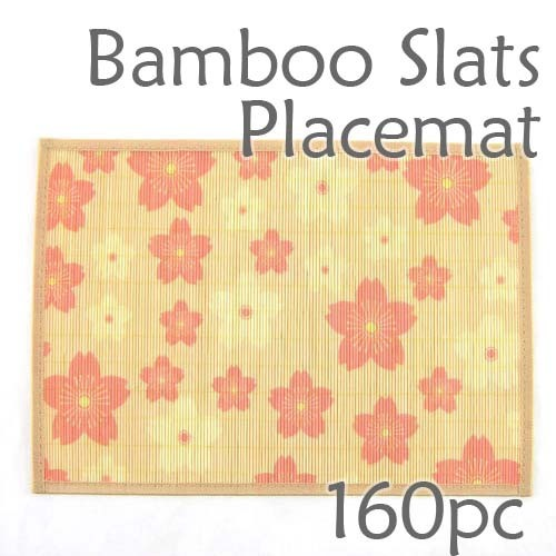 Bamboo Placemat - Peach Blossom Imprint - 160pc
