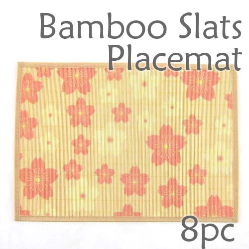 Bamboo Placemat - Peach Blossom Imprint - 8pc