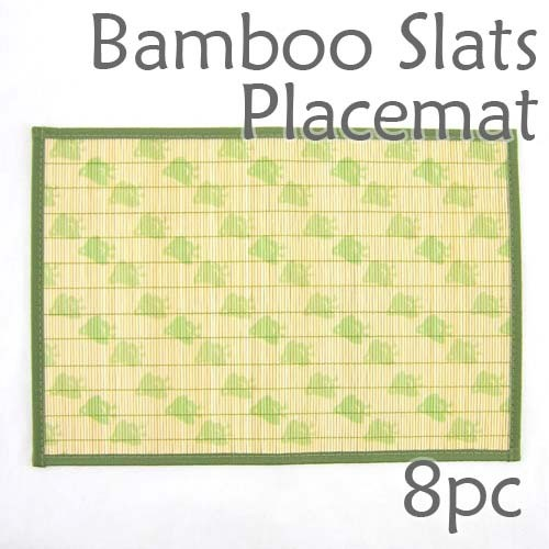 Bamboo Placemat - Green Chick Imprint - 8pc