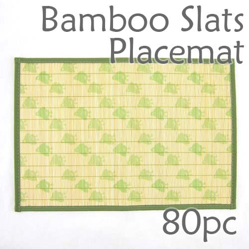 Bamboo Placemat - Green Chick Imprint - 80pc