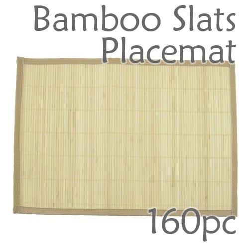 Bamboo Slats Placemat - Natural - 160pc