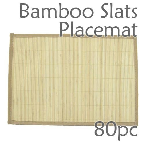 Bamboo Slats Placemat - Natural - 80pc