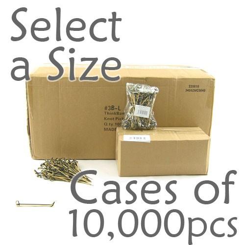 Bamboo Knot Picks - Black - Case of 10,000 pcs (Select a Size)