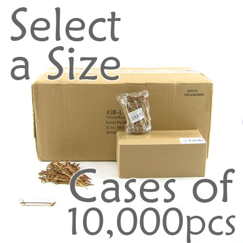 Bamboo Knot Picks - Tea -  Case of 10,000 pcs (Select a Size)