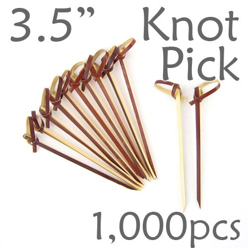 Bamboo Knot Picks 3.5 - Tea - box of 1000 Pieces