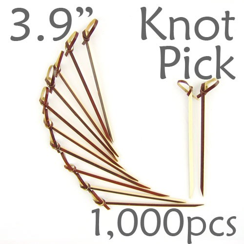 Bamboo Knot Picks 3.9 - Tea - box of 1000 Pieces