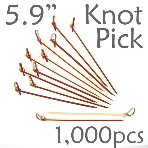 Bamboo Knot Picks 5.9 - Tea - box of 1000 Pieces