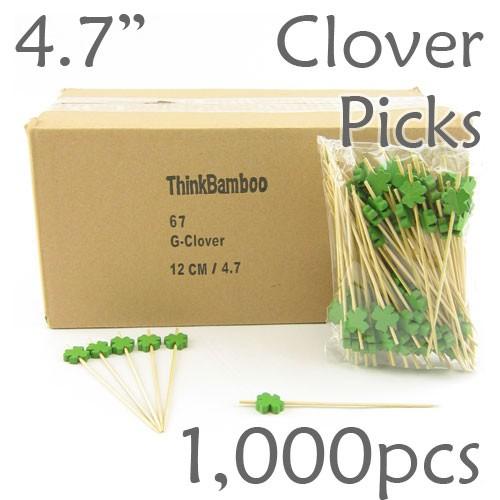 Clover/Shamrock Picks 4.7 Long - Box of 1000 pc
