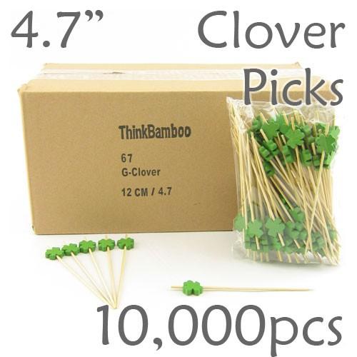 Clover/Shamrock Picks 4.7 Long - Case of 10,000 pc