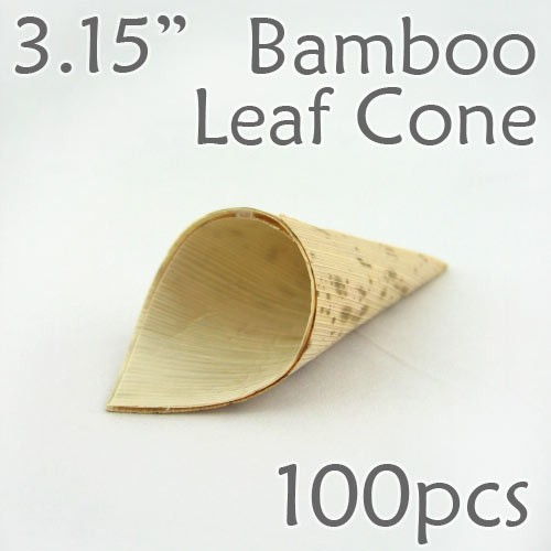 "Bamboo Leaf Cone 3.15"" -100 pc."