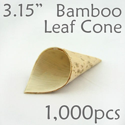 "Bamboo Leaf Cone 3.15"" -1000 pc."