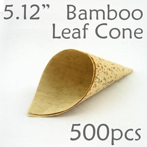 "Bamboo Leaf Cone 5.12"" -500 pc."