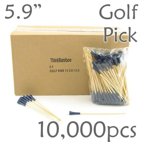 Golf Tee Picks 5.9 Long - Blue - Case of 10,000 pc