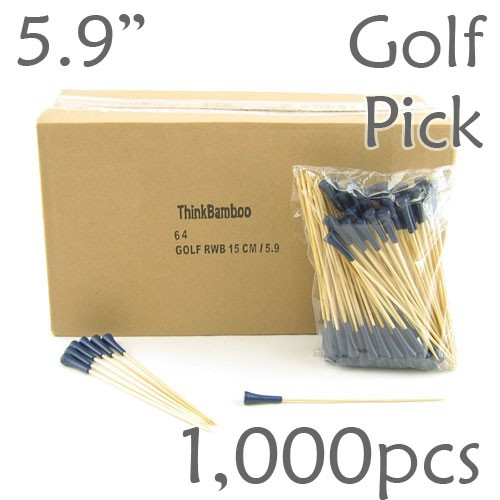Golf Tee Picks 5.9 Long - Blue - Box of 1000 pc