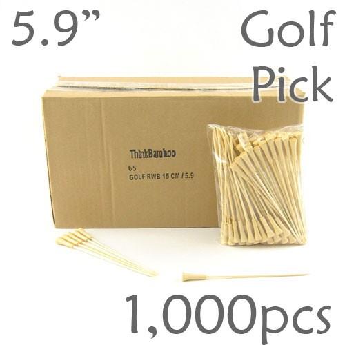 Golf Tee Picks 5.9 Long - Natural - Box of 1000 pc