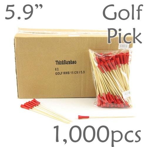 Golf Tee Picks 5.9 Long - Red - Box of 1000 pc