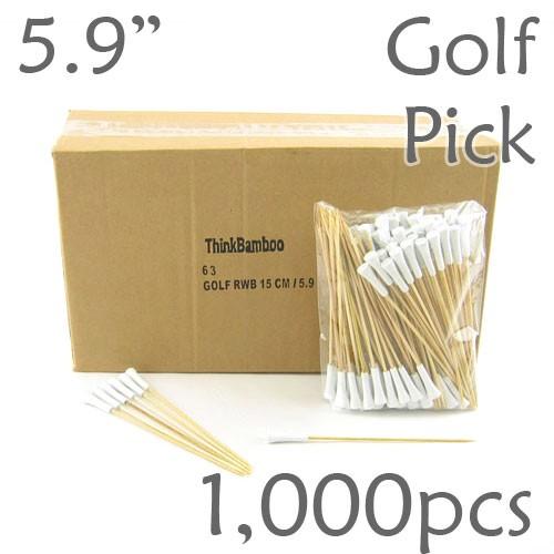 Golf Tee Picks 5.9 Long - White - Box of 1000 pc