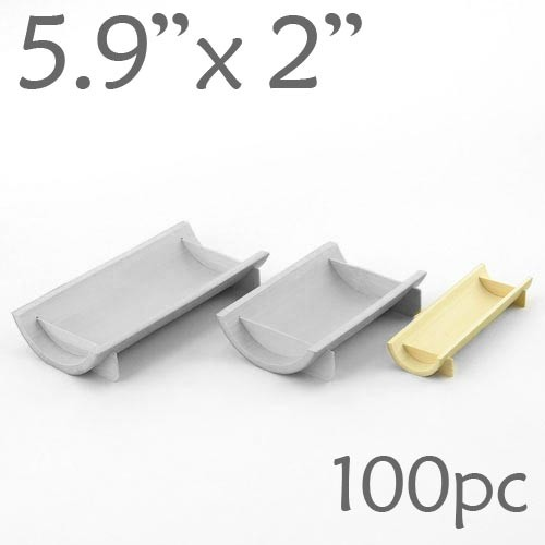 Half-Pipe Dish / Plate -Small - 5.9 x 2 - 100pc