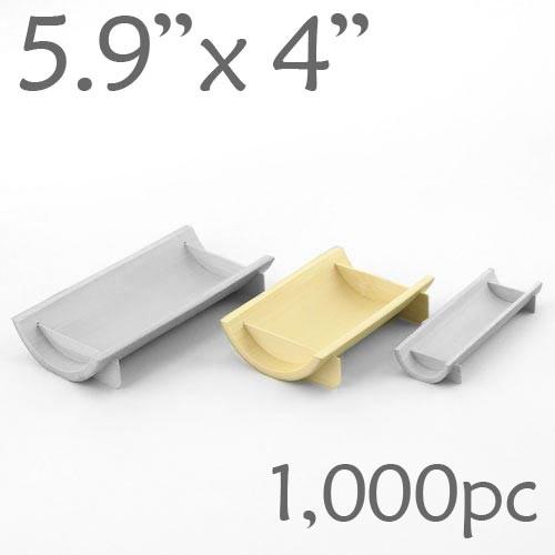 Half-Pipe Dish / Plate - Medium - 5.9 x 4 - 1000pc