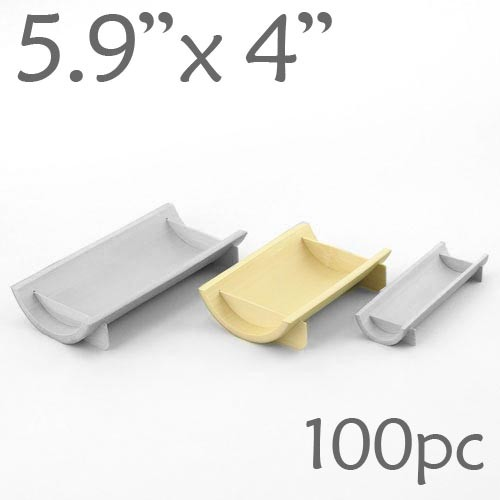 Half-Pipe Dish / Plate - Medium - 5.9 x 4 - 100pc