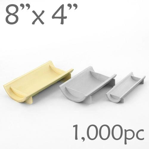 Half-Pipe Dish / Plate - Large - 8 x 4 - 1000pc