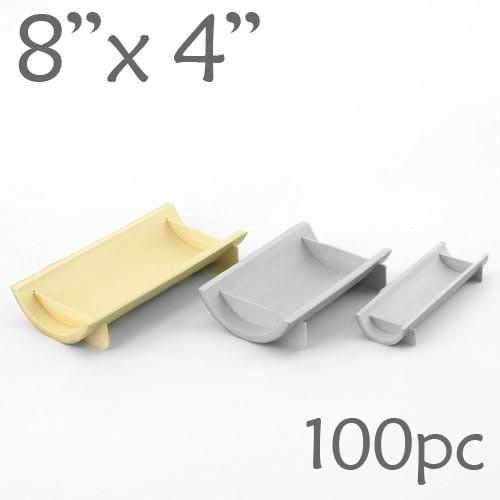 Half-Pipe Dish / Plate - Large - 8 x 4 - 100pc