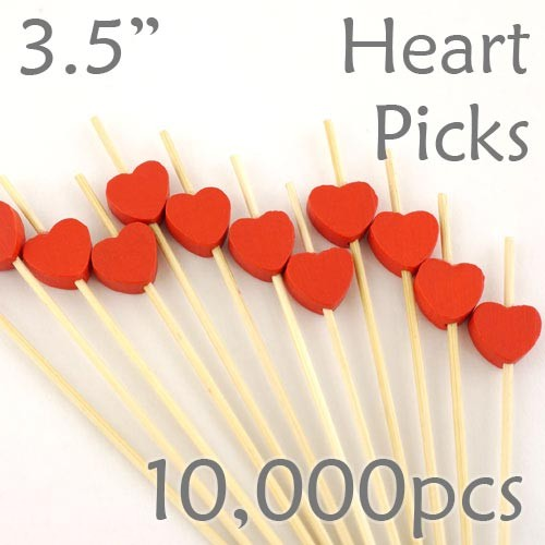 Heart Picks - 3.5 - Case of 10,000 pc
