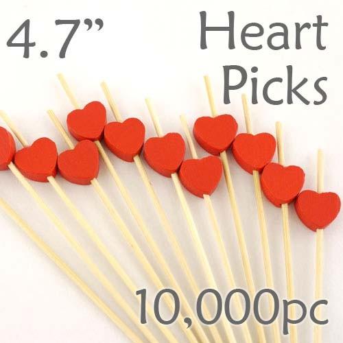 Heart Picks - 4.7 - Case of 10,000 pc