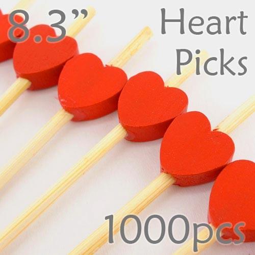 Heart Picks - 8.3 - Box of 1000 pc