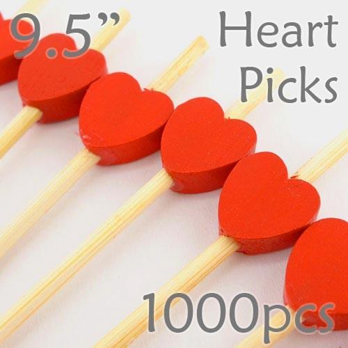 Heart Picks - 9.5 - Box of 1000 pc