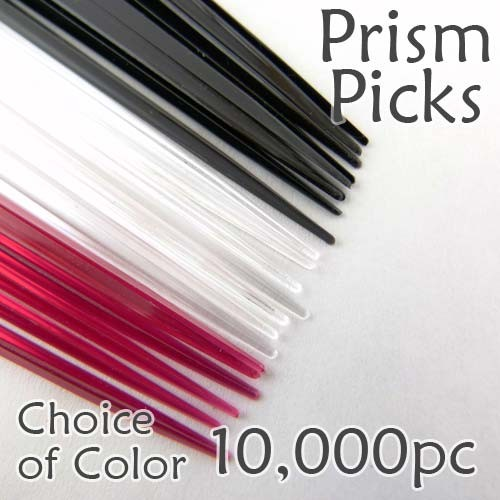 "Triangle Prism Skewer - Choose a Color - 3.5"" Long Case of  10,000 pcs"