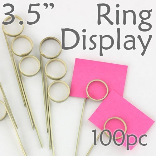"Double Loop Ring Display Pick 3.5""  - 100pcs"
