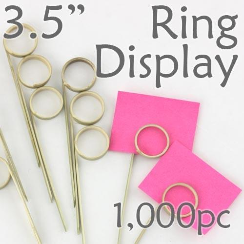 "Double Loop Ring Display Pick  3.5""- 1000pcs"