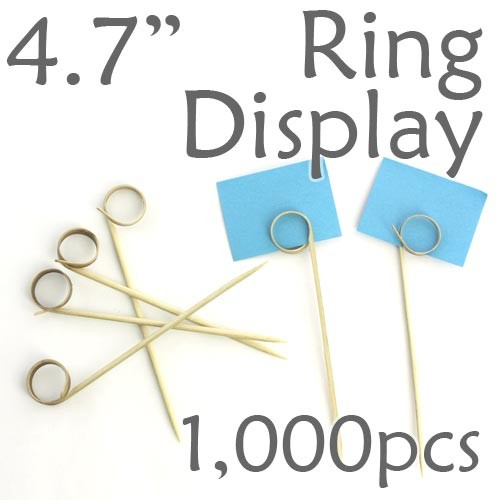 "Double Loop Ring Display Pick 4.7"" - 1000pcs"