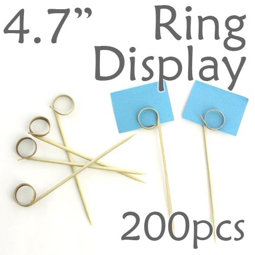 "Double Loop Ring Display Pick 4.7"" - 200pcs"