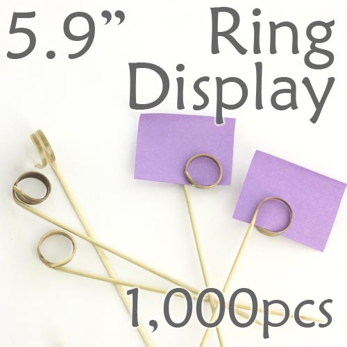 "Double Loop Ring Display Pick 5.9"" - 1000pcs"