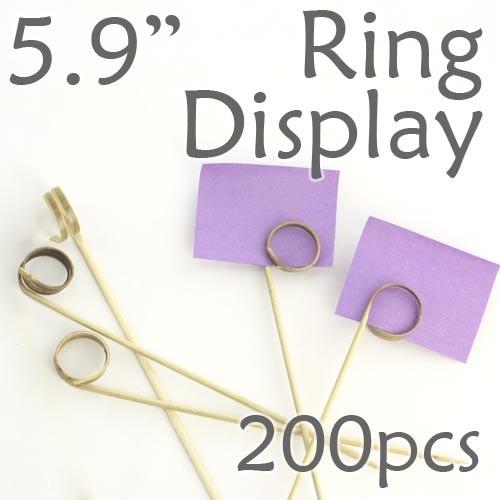 "Double Loop Ring Display Pick 5.9"" - 200pcs"