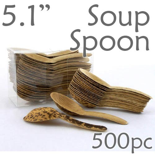 Thermo-Pressed Leaf Chinese Soup Spoon -500 pc.