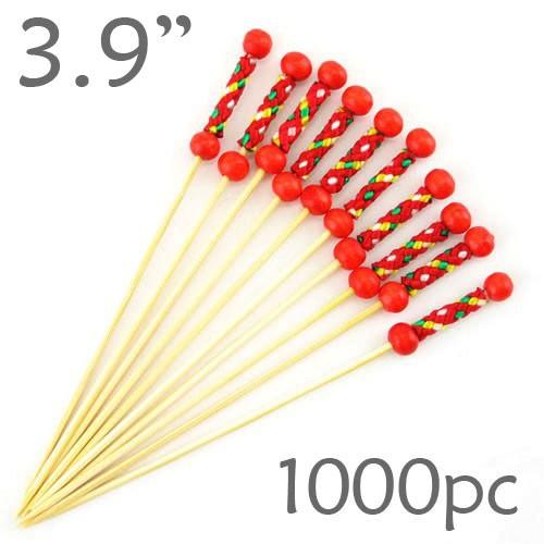 String Picks - 3.9- Red - Box of 1000 pc